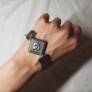 Magnetic Rustic Vintage A Initial Bracelet